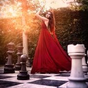 девушка шахматы